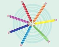 Círculos del gráfico Foto de archivo libre de regalías