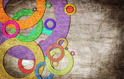 Círculos del Grunge en la pared fotografía de archivo libre de regalías