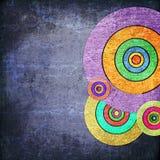 Círculos del Grunge en la pared foto de archivo