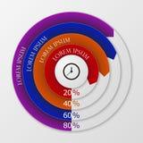 Círculos del infographics del ejemplo del vector stock de ilustración