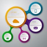 Círculos del papel del infographics del ejemplo del vector libre illustration