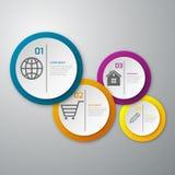 Círculos del papel del infographics del ejemplo del vector Stock de ilustración