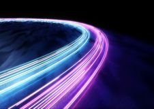 Círculos del rastro del coche de la luz Imagen de archivo libre de regalías