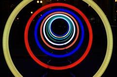 Círculos del resplandor de Georgetown en la noche Imágenes de archivo libres de regalías