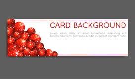 Círculos del rojo de la chispa Tarjeta del vale, tarjeta de felicitación, bandera Ilustración del vector Fotos de archivo libres de regalías