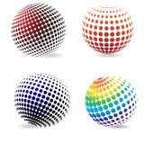 Círculos del tono medio del color. Fotos de archivo
