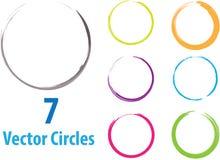 Círculos del vector Foto de archivo