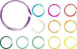 Círculos del vector Fotografía de archivo libre de regalías