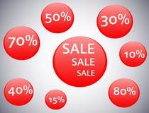 Círculos del vector de la venta Fotografía de archivo libre de regalías