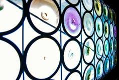 Círculos del vidrio y del color fotografía de archivo libre de regalías