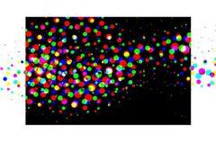 Círculos dispersados coloridos stock de ilustración