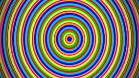 Círculos divertidos coloridos concéntricos del equalizador audio de Digitaces Animación generada por ordenador metrajes
