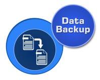 Círculos do azul do backup de dados Foto de Stock Royalty Free