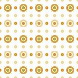 Círculos do bege e do ouro Fotos de Stock Royalty Free