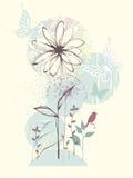 Círculos do design floral Foto de Stock