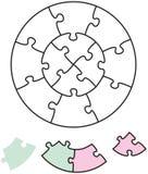 Círculos do enigma de serra de vaivém dois Imagens de Stock Royalty Free