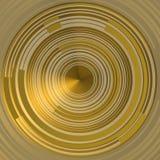 CÍRCULOS do futuro SOBRE o fundo dourado Imagens de Stock Royalty Free