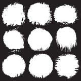Círculos do Grunge ajustados Imagem de Stock Royalty Free