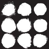 Círculos do Grunge ajustados Fotos de Stock