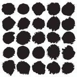 Círculos do Grunge ajustados Foto de Stock Royalty Free