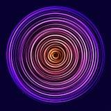 Círculos do néon da rotação do fulgor ilustração royalty free