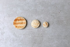 Círculos do pão imagens de stock royalty free