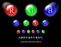 Círculos do RGB ilustração do vetor