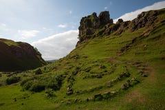 Círculos do vale feericamente, Skye, Escócia fotos de stock royalty free
