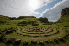 Círculos do vale feericamente, Skye, Escócia fotografia de stock