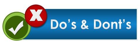 Círculos do vermelho de Dos And Donts Two Green Imagem de Stock