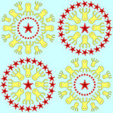 Círculos dos polvo Fotografia de Stock Royalty Free