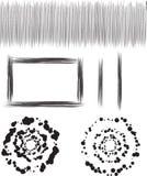 Círculos e beiras sujos ilustração stock