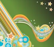 Círculos e estrelas Ilustração Stock