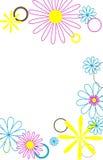Círculos e flores 2 Fotos de Stock