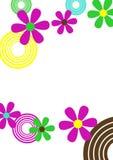 Círculos e flores Imagem de Stock Royalty Free