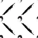 Círculos e listras pretos no fundo branco Fotos de Stock