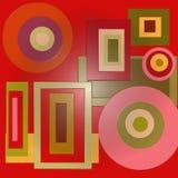 Círculos e quadrados Fotografia de Stock Royalty Free