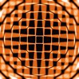 Círculos e teste padrão de estrela alaranjados imagens de stock royalty free