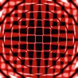 Círculos e teste padrão de estrela vermelhos fotos de stock
