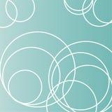 Círculos em um campo de turquesa Imagens de Stock Royalty Free