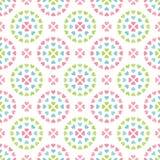 Círculos en colores pastel retros inconsútiles lindos del fondo del corazón libre illustration