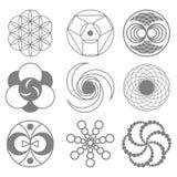 Círculos en el ejemplo del vector de los campos de trigo ilustración del vector