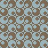 Círculos en Squares_Blue-Brown Foto de archivo libre de regalías