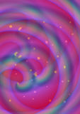 Círculos espirais cor-de-rosa do fractal Imagens de Stock