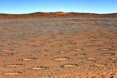 Círculos feericamente - Namíbia Fotografia de Stock Royalty Free