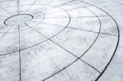 Círculos feitos do concreto fotografia de stock