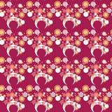 Círculos festivos magentas brilhantes Fotografia de Stock Royalty Free