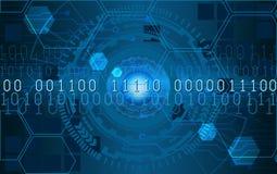 Círculos futuros futuristas del fi del sci con números HUD Imagenes de archivo