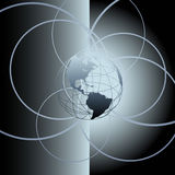 Círculos globales del extracto de la tierra del globo Fotografía de archivo libre de regalías