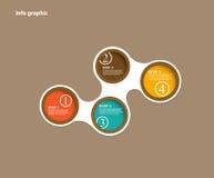 Círculos gráficos del Info con el lugar para su texto. stock de ilustración